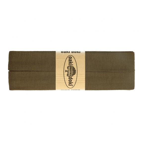 Jersey Schrägband 20mm x 3meter (braun/grünton)