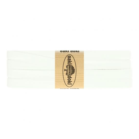 Jersey Schrägband 20mm x 3meter (weiß)