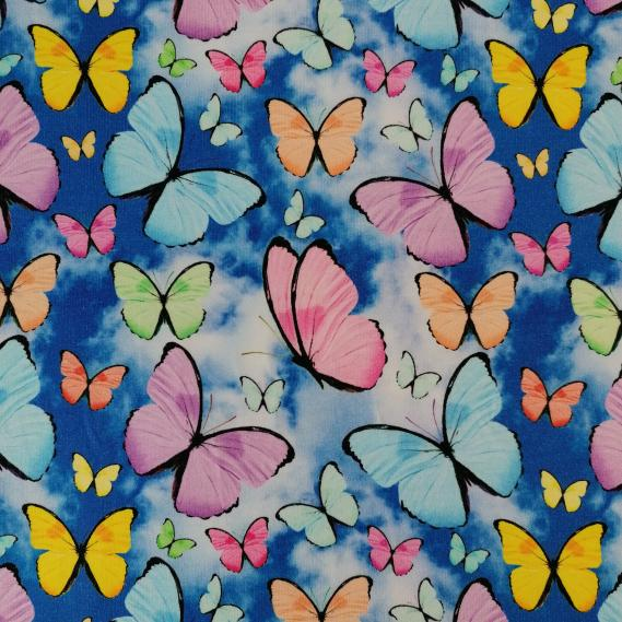 Sommersweat Bunte Schmetterlinge