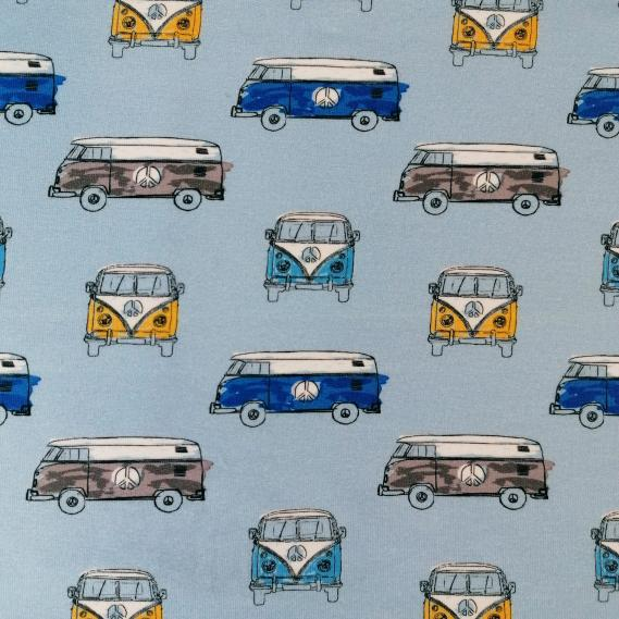 Sommersweat Peace Bus (hellbau)