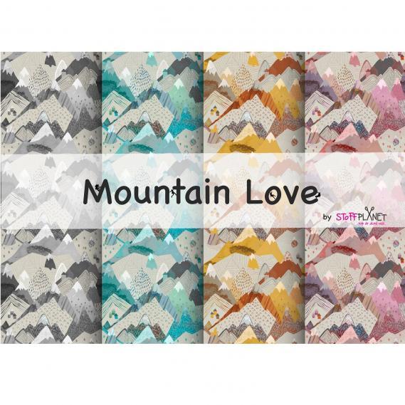 BIO Baumwolljersey Mountain Love (PAKET4x1m)