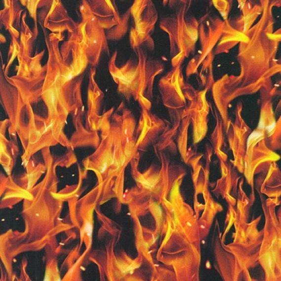 Baumwollstoff Flame